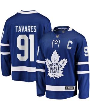 Men's John Tavares Blue Toronto Maple Leafs Home Captain Premier Breakaway Player Jersey