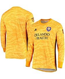 Men's Yellow Orlando City SC Replica Goalkeeper Long Sleeve Jersey