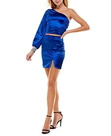 Juniors' One-Shoulder 2-Pc. Dress