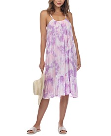 Tie-Dye Sleeveless Midi Cover-Up Dress