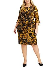 Plus Size Printed Side Tab Dress