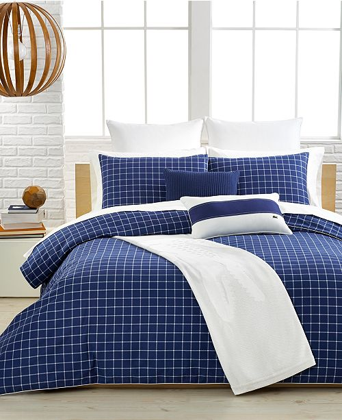 Lacoste Home CLOSEOUT! Lacoste Denab True Navy Twin Comforter Set