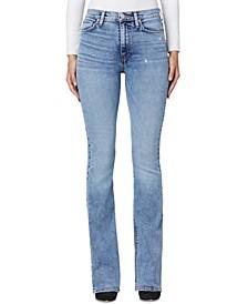 Distressed Barbara High Waist Bootcut Jeans