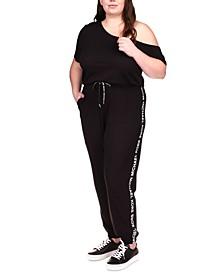 Plus Size Off-The-Shoulder Jumpsuit
