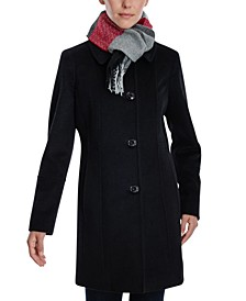 Single-Breasted Scarf Coat