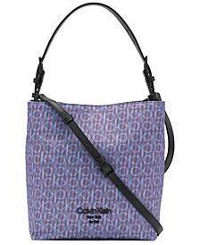 Brielle Logo Convertible Bucket Bag