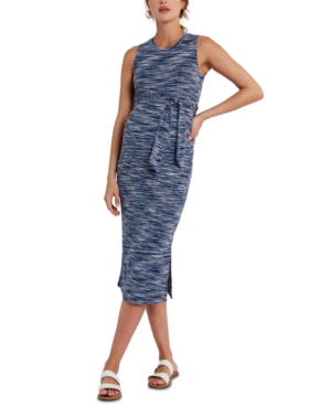 Space-Dyed Tie-Front Maternity Dress