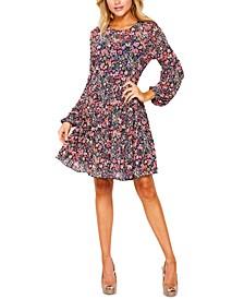 Juniors' Floral-Print Dress