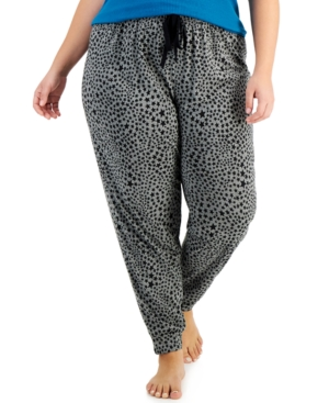 Plus Size Printed Jogger Pajama Pants