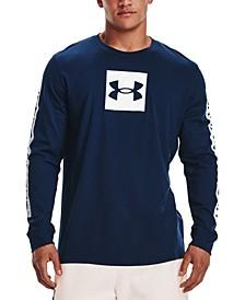 Men's Sportstyle Boxed Logo Graphic Long-Sleeve Shirt