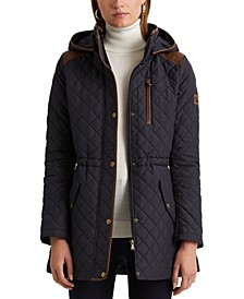 Quilted Hooded Coat, Created for Macy's