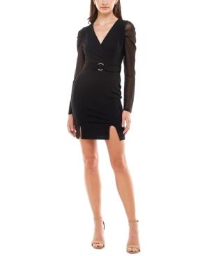 Juniors' Jersey Blazer Bodycon Dress