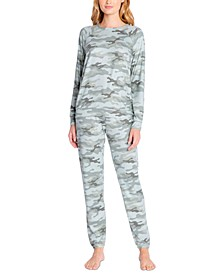 Printed Pajama Top & Jogger Pajama Pants