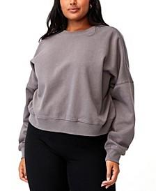 Trendy Plus Size Classic Crew Neck Pullover Sweater