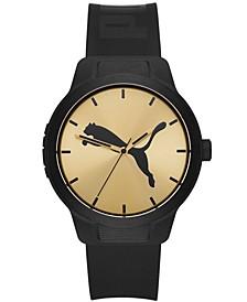 Men's Reset V2 Black Polyurethane Strap Watch, 43mm