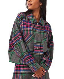 Cropped Plaid Jacket, Created for Macy's
