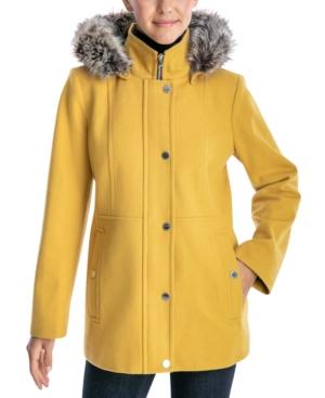 Faux-Fur-Trimmed Hooded Walker Coat