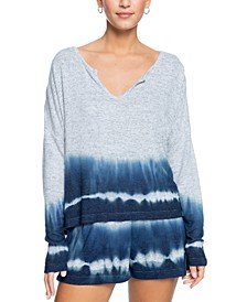 Juniors' Staying True Crew Tie-Dyed Top