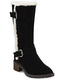 Women's Jacoba Faux-Shearling-Trim Engineer Boots