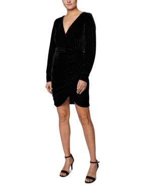 Belted Velvet Mini Dress