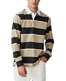 Men's Rugby Long Sleeve Polo Shirt