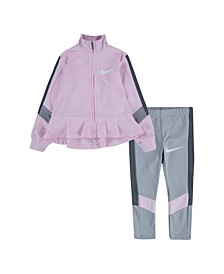Toddler Girls Tricot Trophy Matching Jacket and Pant Set, 2 Piece