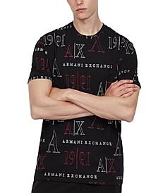 Men's Allover Logo Print T-Shirt