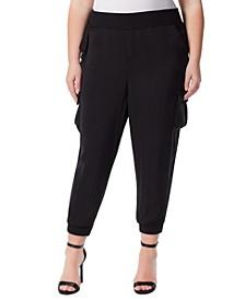 Trendy Plus Size Pull-On Cargo Pants