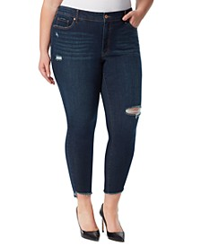 Trendy Plus Adored Ripped Skinny Jeans