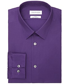 Men's Steel Slim-Fit Non-Iron Stain Shield Solid Dress Shirt