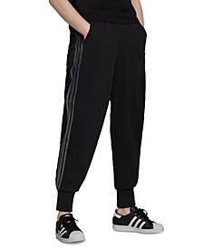 Women's Cotton Cuffed 3-Stripes Sweatpants