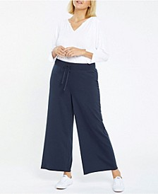 Plus Size Forever Comfort Collection Drawstring Wide Leg Pant