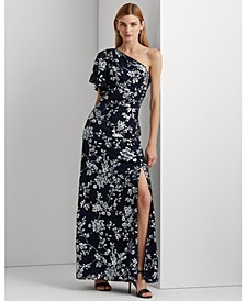 Floral One-Shoulder Gown