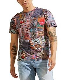 Men's Eco Vintage Collage Print T-Shirt