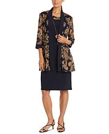 Paisley-Print Draped Jacket & Dress