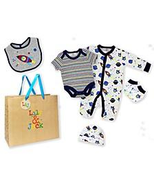 Baby Boys 5 Piece Spaceship Layette Gift Set