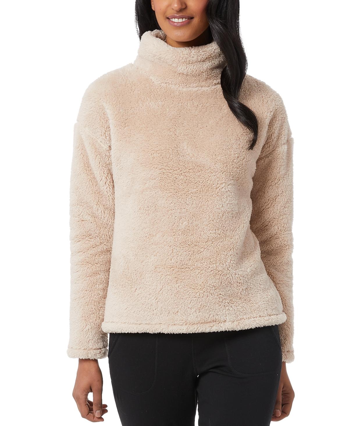 32 Degrees Sherpa Mock-Neck Sweater