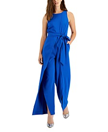 Scuba Crepe Flyaway-Pant Jumpsuit, Created for Macy's