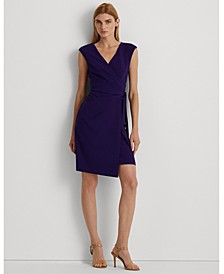 Wrap-Style Cap Sleeve Dress