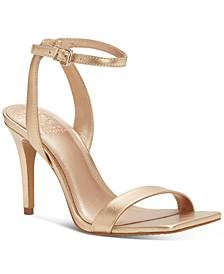 Saprenda Ankle-Strap Rinestone Sandals