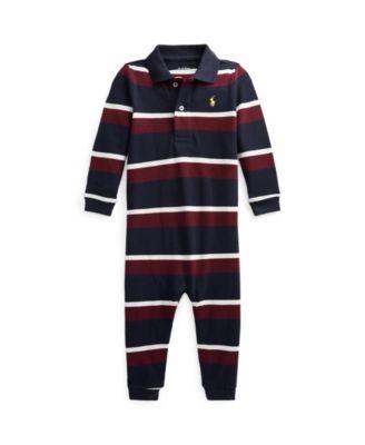 폴로 랄프로렌 Polo Ralph Lauren Baby Boys Cotton Mesh Polo Coverall
