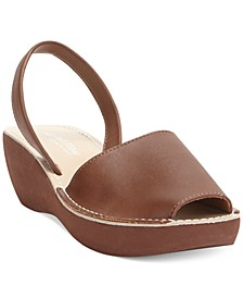 Women's Fine Glass Wedge Sandals