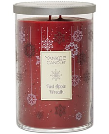 Large Two-Wick Red Apple Wreath Tumbler Candle