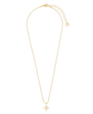 Alice 14K Gold Plated Imitation Pearl Pendant Necklace