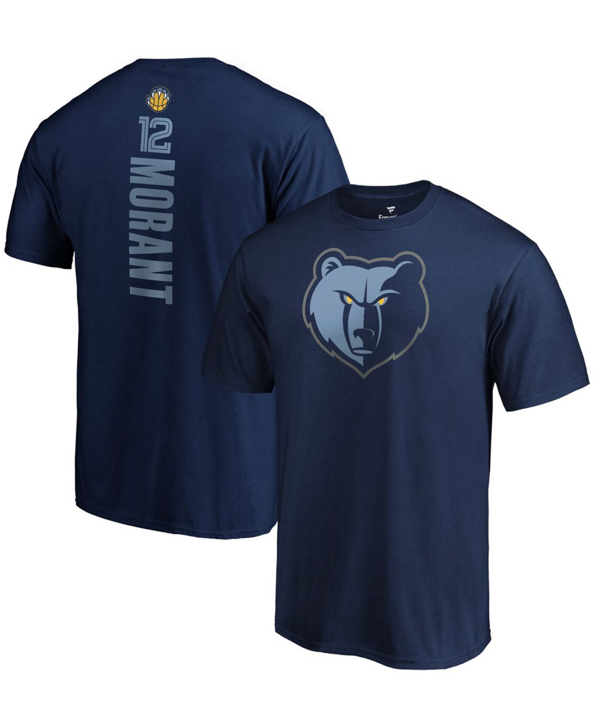 Men's Ja Morant Navy Memphis Grizzlies 2019 Nba Draft Playmaker Name Number T-shirt