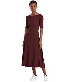 Stretch Cotton Midi Dress