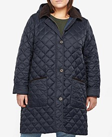 Plus Size Lovell Hooded Quilted Coat