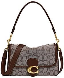 Soft Tabby Signature Jacquard Shoulder Bag