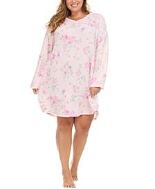 Plus Size Printed Sleepshirt