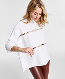 Milano Cotton Ladder-Stitch Sweater